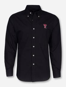 """Antigua Texas Tech """"Dynasty"""" Double T Long Sleeve Dress Shirt"""