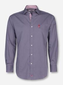 Thomas Dean Texas Tech Charcoal Dress Shirt 256219faf