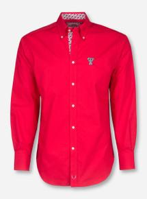 Thomas Dean Texas Tech Red Dress Shirt