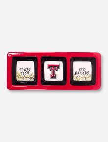 Texas Tech 3 Sectional Ceramic Serving Tray