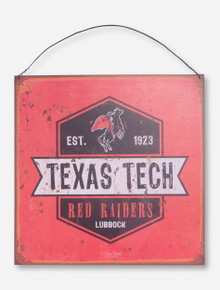 "Texas Tech ""Oil Can"" Tin Sign"