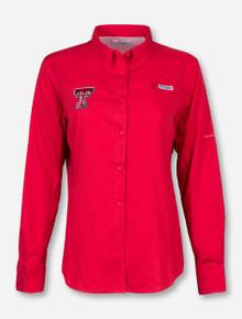 """Texas Tech Columbia """"Tamiami"""" Women's Long Sleeve Fishing Shirt"""