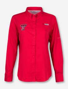 "Texas Tech Columbia ""Tamiami"" Women's Long Sleeve Fishing Shirt"