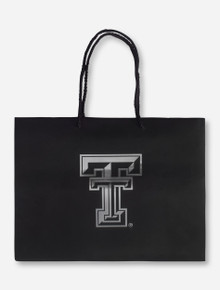 Texas Tech Metallic Double T Black Gift Bag