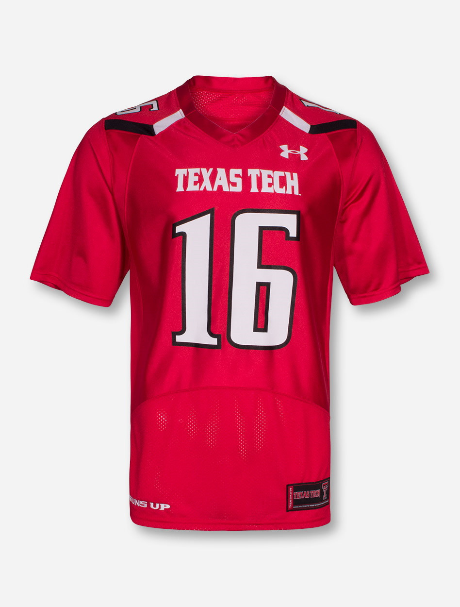 brand new 36eee 1cacc Under Armour Texas Tech Red Player's ADULT Jersey