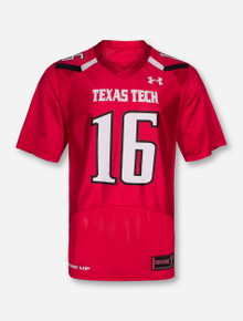 Under Armour Texas Tech Red Player's ADULT Jersey