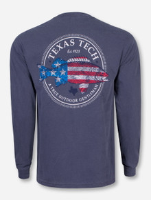 American Fish Denim Blue Long Sleeve - Texas Tech