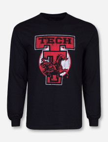 Texas Tech Retro Brand Scoreboard Long Sleeve