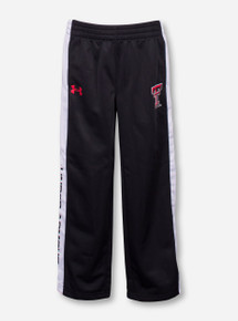 Under Armour Texas Tech Double T on KIDS Black and White Sweatpants