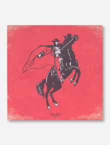 Texas Tech Rearing Rider Canvas