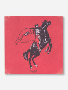 Texas Tech Rearing Rider on Red Mini Canvas