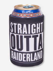 Straight Outta Raiderland Black Can Cooler- Texas Tech