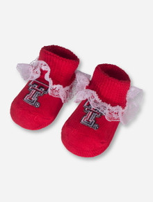 Texas Tech Double T Lace Red INFANT Booties