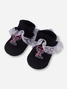 Texas Tech Double T Lace Black INFANT Booties