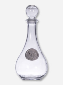 Texas Tech Double T Silver Emblem on Glass Decanter
