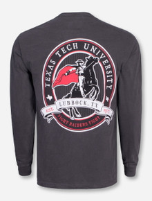 Tonal Masked Rider Label Long Sleeve - Texas Tech