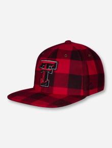 "Zephyr Texas Tech ""Plaid"" Red Snapback Cap"