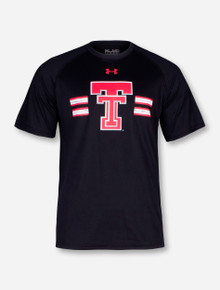 Under Armour Texas Tech Throwback Double T with Distressed Stripes T-Shirt