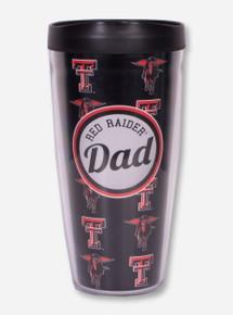Texas Tech Red Raider Dad Black Travel Tumbler