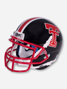Schutt Texas Tech '75-'83 Throwback Black Mini Helmet with Red Facemask