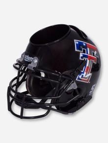 Texas Tech Limited Edition Flag Double T on Black Helmet Desk Caddy