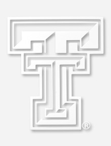 Texas Tech White and Clear Double T Decal