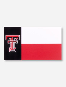 Texas Tech Lone Star Flag with Double T Decal