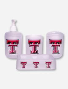 Texas Tech Double T 4 Piece Bathroom Set