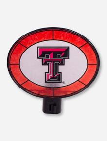 Texas Tech Double T Glass Oval Nightlight