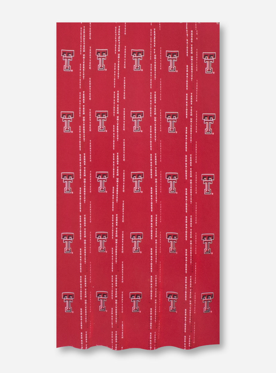 Texas Tech Red Raiders Double T Fabric Shower Curtain