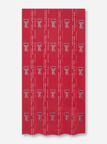 Texas Tech Double T Red Fabric Shower Curtain