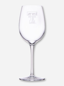 Texas Tech Etched Double T Standard Wine Glass