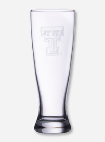 Texas Tech Etched Double T Pilsner Glass