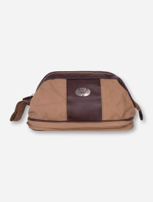 Texas Tech Double T Brown Canvas Travel Bag