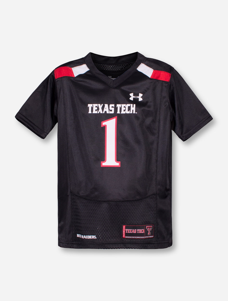 3f99d1027 Under Armour Texas Tech Red Raiders Replica #1 KIDS Jersey