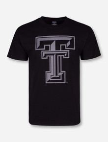 Texas Tech Black Diamond Double T Reflective Black T-Shirt