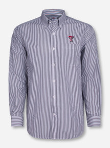 "Cutter & Buck Texas Tech ""Mini Bengal"" Long Sleeve Dress Shirt"