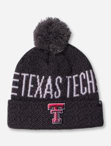 """47 Brand Texas Tech """"Charcoal Puff"""" Beanie"""