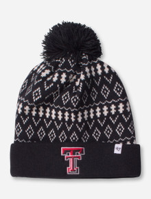 "47 Brand Texas Tech ""Eilen"" Women's Black and White Knit Cap"