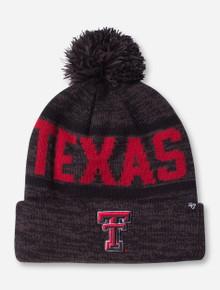 47 Brand Woven Texas Tech Charcoal Cuff Knit Cap