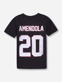 "Texas Tech ""Amendola"" Throwback YOUTH Black T-Shirt"