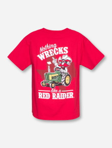 Texas Tech Nothing Wrecks Tractor YOUTH Red T-Shirt