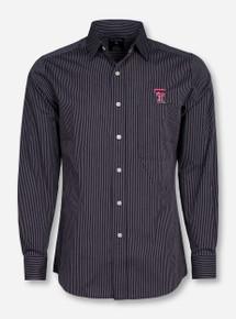 "Antigua Texas Tech ""Graduate"" Striped Long Sleeve Dress Shirt"