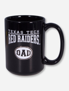 Texas Tech DAD Emblem on Black Mug