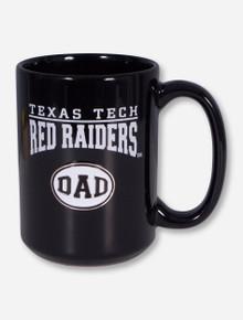 Texas Tech DAD Emblem on Black Mug