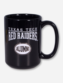Texas Tech ALUMNI Emblem on Black Mug