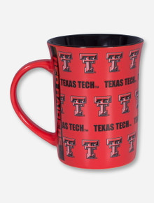 Texas Tech Repeating Double T on Red Mug