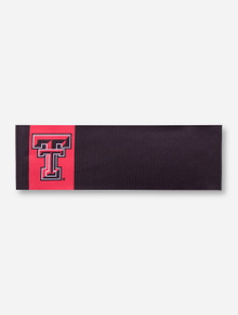 Texas Tech Double T Red and Black Elastic Headband