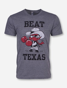 """Texas Tech Beat Texas """"Puncher"""" Heather Grey T-Shirt"""