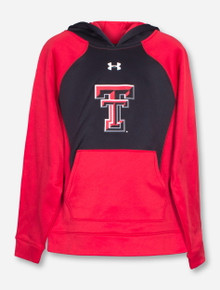 "Under Armour Texas Tech ""Colorblock"" YOUTH Hoodie"